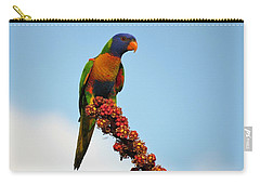 Rainbow Lorikeet Umbrella Tree Flowers Carry-all Pouch