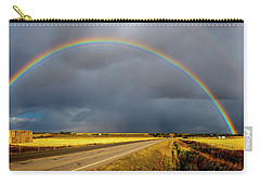 Rainbow Over Crop Land Carry-all Pouch