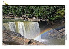 Carry-all Pouch featuring the photograph Rainbow Over Cumberland Falls by Angela Murdock