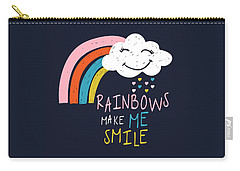 Rainbows Make Me Smile - Baby Room Nursery Art Poster Print Carry-all Pouch