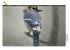 Rainy Day Blue Jay Carry-all Pouch