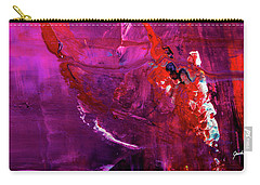 Rainy Day Woman - Purple And Red Large Abstract Art Painting Carry-all Pouch
