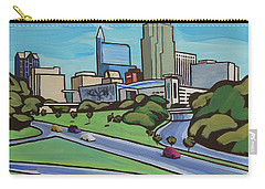 Raleigh Skyline Cartoon 16 X 20 Ratio Carry-all Pouch