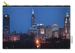 Raleigh Skyline Night Photo 16 X 20 Ratio Carry-all Pouch