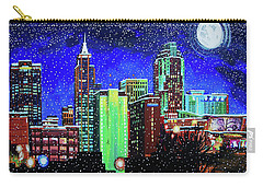 Raleigh Skyline Winter Night 16 X 20 Ratio Carry-all Pouch