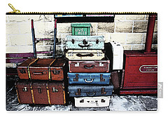 Ramsbottom.  Elr Railway Suitcases On The Platform. Carry-all Pouch