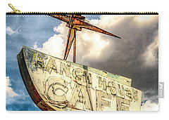 Carry-all Pouch featuring the photograph Ranch House Cafe by Lou Novick
