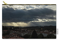 Carry-all Pouch featuring the photograph Rays Over Santiago by Alex Lapidus