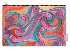 Carry-all Pouch featuring the painting Red Abstraction by Dobrotsvet Art