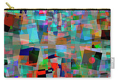 Carry-all Pouch featuring the digital art Red Alert by Edmund Nagele