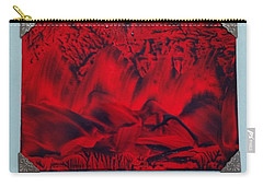 Red And Black Encaustic Abstract Carry-all Pouch