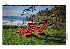 Red Chairs At Agate Beach Carry-all Pouch