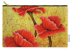 Carry-all Pouch featuring the painting Red Enchantment by Amy E Fraser