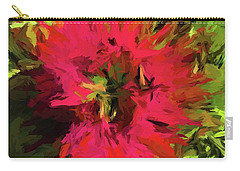 Red Flower Flames Carry-all Pouch