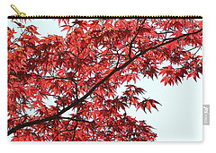 Carry-all Pouch featuring the photograph Red Japanese Maple Leaves by Debi Dalio