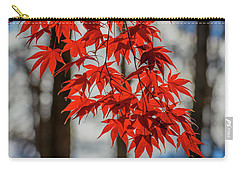 Carry-all Pouch featuring the photograph Red Leaves by Cindy Lark Hartman