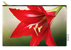 Red Lily Flower Carry-all Pouch