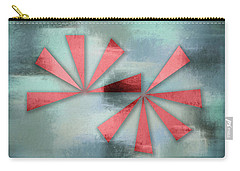 Red Triangles On Blue Grey Backdrop Carry-all Pouch