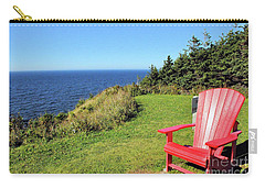 Red Chair By The Ocean Carry-all Pouch