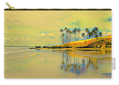 Reflection Of Coastal Palm Trees Carry-all Pouch