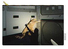 Carry-all Pouch featuring the photograph Rescue Of The Space Frog by Alex Lapidus