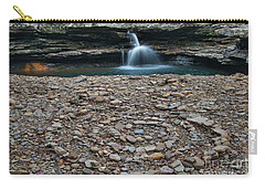Carry-all Pouch featuring the photograph Rock Circle by Joe Sparks