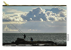 Carry-all Pouch featuring the photograph Rock Fishing by Pablo Avanzini