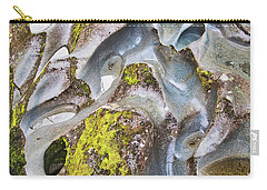 Carry-all Pouch featuring the photograph Rock Grooves - The Chasm - New Zealand by Steven Ralser