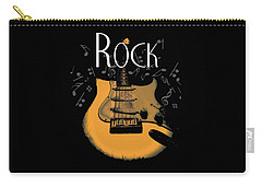 Rock Guitar Music Notes Carry-all Pouch