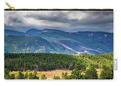 Rocky Mountains - Green Carry-all Pouch