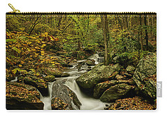 Carry-all Pouch featuring the photograph Rocky Stream Vertical by Meta Gatschenberger