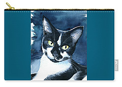 Rollie Tuxedo Cat Painting Carry-all Pouch