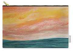 Carry-all Pouch featuring the painting Rolling Ocean by Valerie Anne Kelly
