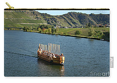 Carry-all Pouch featuring the photograph Roman Warship On The Mosel by PJ Boylan