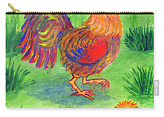 Rooster And Little Chicken Carry-all Pouch