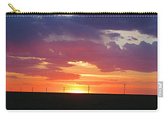 Round Barn Sunset Carry-all Pouch