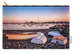 Rowboats At Rye Harbor, Sunset Carry-all Pouch