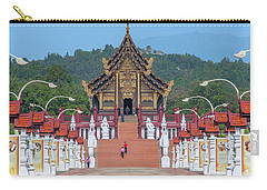 Carry-all Pouch featuring the photograph Royal Park Rajapruek Avenue To The Grand Pavilion Dthcm2584 by Gerry Gantt