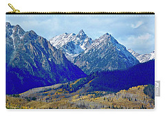 Carry-all Pouch featuring the photograph Rugged Peaks by Dan Miller
