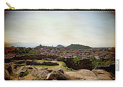 Carry-all Pouch featuring the photograph Ruins On The Top Of The Hill by Milena Ilieva