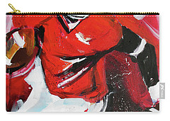 Carry-all Pouch featuring the painting Run For It by John Jr Gholson