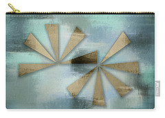 Rusted Triangles On Blue Grey Backdrop Carry-all Pouch
