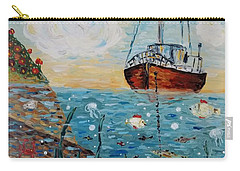 Carry-all Pouch featuring the painting Safe Harbor by Maria Langgle