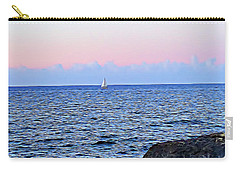 Carry-all Pouch featuring the digital art Sail Boat by Lucia Sirna