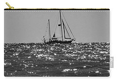Sailboat In Black And White Carry-all Pouch