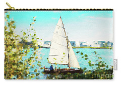Sailboat On The River Watercolor Carry-all Pouch