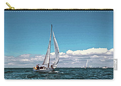 Sailing Regatta On A Brisk Summer's Day Carry-all Pouch