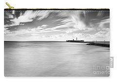 Carry-all Pouch featuring the photograph Saint Sebastian Castle Long Exposure Cadiz Spain by Pablo Avanzini