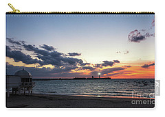 Carry-all Pouch featuring the photograph Saint Sebastian Lighthouse At Dusk Cadiz Spain by Pablo Avanzini