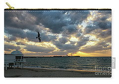 Carry-all Pouch featuring the photograph Saint Sebastian Lighthouse At Sunset Cadiz Spain by Pablo Avanzini